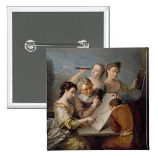 The Sense of Sight, c.1744-47 (oil on canvas) Pinback Button