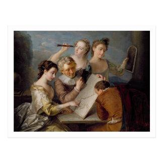 The Sense of Sight, c.1744-47 (oil on canvas) Postcard