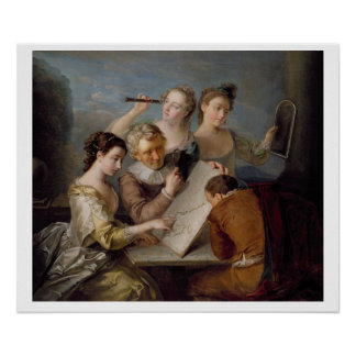 The Sense of Sight, c.1744-47 (oil on canvas) Poster