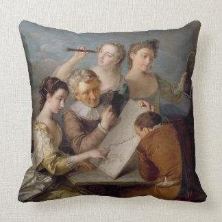 The Sense of Sight, c.1744-47 (oil on canvas) Throw Pillow