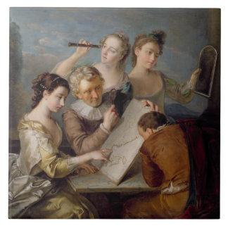 The Sense of Sight, c.1744-47 (oil on canvas) Tile