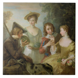 The Sense of Smell, c.1744-47 (oil on canvas) (see Ceramic Tile
