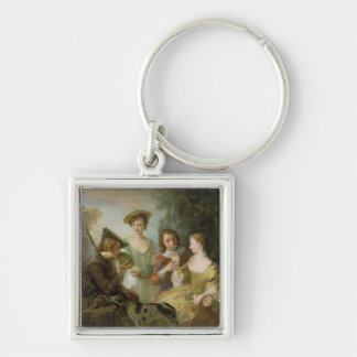 The Sense of Smell, c.1744-47 (oil on canvas) (see Silver-Colored Square Keychain