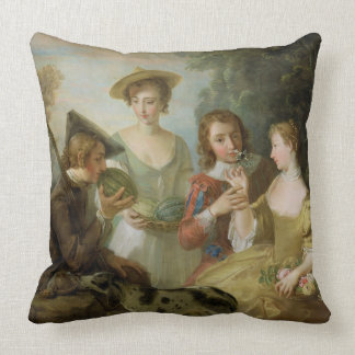 The Sense of Smell, c.1744-47 (oil on canvas) (see Throw Pillow