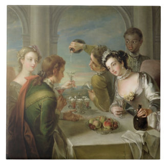 The Sense of Taste, c.1744-47 (oil on canvas) (see Ceramic Tile