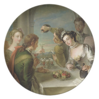 The Sense of Taste, c.1744-47 (oil on canvas) (see Dinner Plate