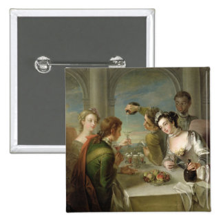 The Sense of Taste, c.1744-47 (oil on canvas) (see Pinback Button