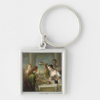 The Sense of Taste, c.1744-47 (oil on canvas) (see Silver-Colored Square Keychain