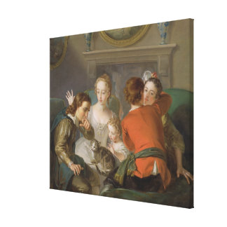 The Sense of Touch, c.1744-47 (oil on canvas) (see Canvas Print
