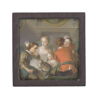 The Sense of Touch, c.1744-47 (oil on canvas) (see Jewelry Box