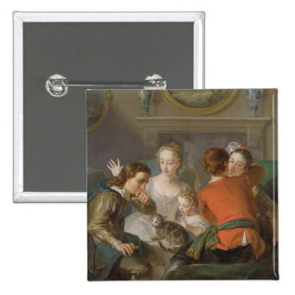 The Sense of Touch, c.1744-47 (oil on canvas) (see Pinback Button