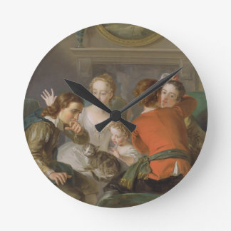 The Sense of Touch, c.1744-47 (oil on canvas) (see Round Clock