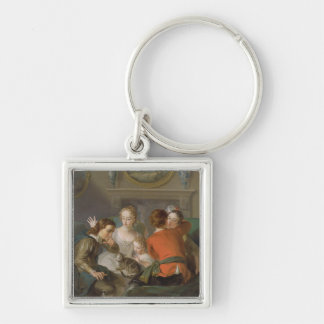 The Sense of Touch, c.1744-47 (oil on canvas) (see Silver-Colored Square Keychain