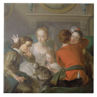 The Sense of Touch, c.1744-47 (oil on canvas) (see Tile