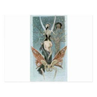 The Sentimental Initiation by Felicien Rops Postcard