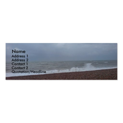 The Serene Sea of Sussex Business Card Template