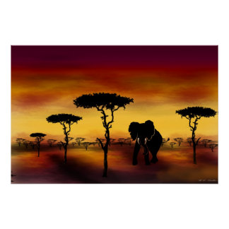 The Serengeti Elephant Poster Prints