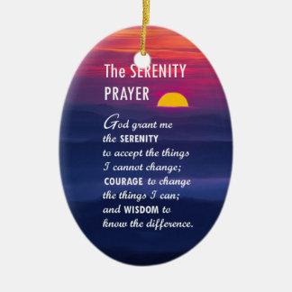 The Serenity Prayer 2 Ceramic Ornament