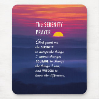 The Serenity Prayer 2 Mouse Pad