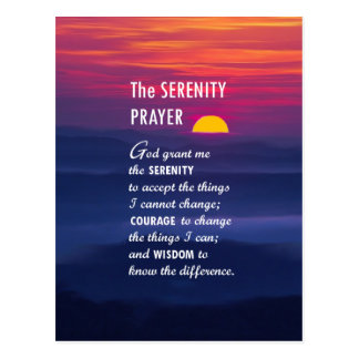 The Serenity Prayer 2 Postcard