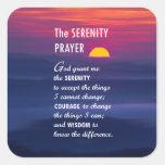 The Serenity Prayer 2 Square Stickers