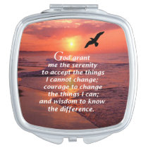 The Serenity Prayer 3 Makeup Mirror