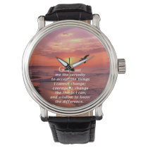 The Serenity Prayer 3 Wristwatch