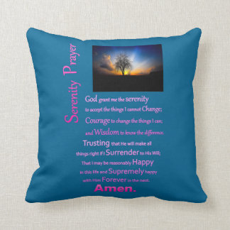 The Serenity Prayer Alone Tree Throw Pillow