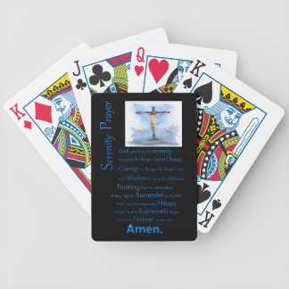The Serenity Prayer B.C Bicycle Playing Cards