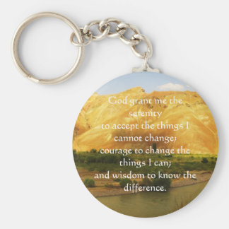 The Serenity Prayer Basic Round Button Keychain