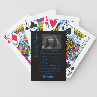 The Serenity Prayer Blue Bicycle Playing Cards