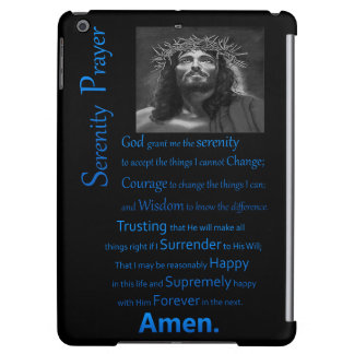 The Serenity Prayer Blue iPad Air Cases