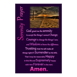 The Serenity Prayer BoardWay Poster