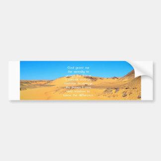 The Serenity Prayer Car Bumper Sticker