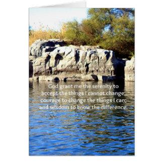 The Serenity Prayer Card