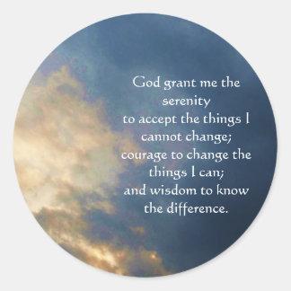 The Serenity Prayer Classic Round Sticker