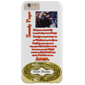 The Serenity Prayer Eagle Head Barely There iPhone 6 Plus Case