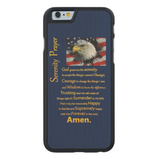 The Serenity Prayer Eagle Head Carved Maple iPhone 6 Case
