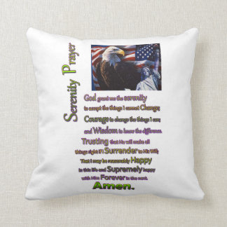 The Serenity Prayer Eagle Head Pillow