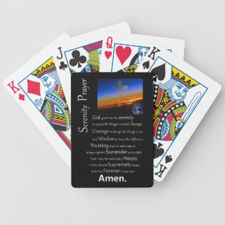 The Serenity Prayer In Space Bicycle Playing Cards