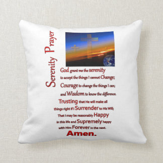 The Serenity Prayer In Space Red Pillow
