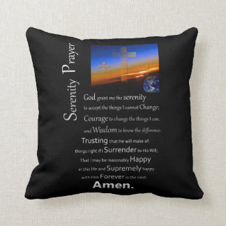 The Serenity Prayer In Space Throw Pillow