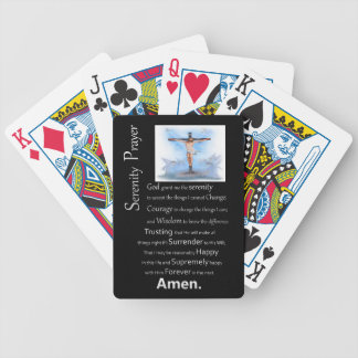 The Serenity Prayer Jesus Cross Bicycle Playing Cards
