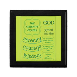The Serenity Prayer Keepsake Box