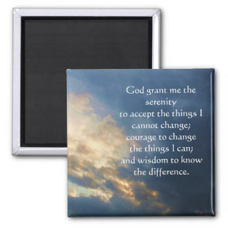 The Serenity Prayer 2 Inch Square Magnet