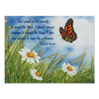 The Serenity Prayer - Monarch Butterfly - Poster