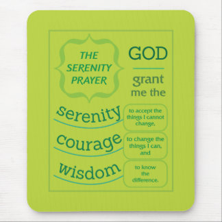 The Serenity Prayer Mouse Pad