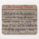The Serenity Prayer Mousepad Mouse Pad