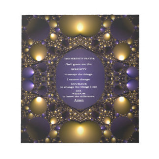 THE SERENITY PRAYER.multiple products selected Memo Note Pad