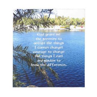The Serenity Prayer Memo Note Pads